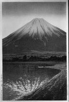 川瀬巴水『山中湖の暁』